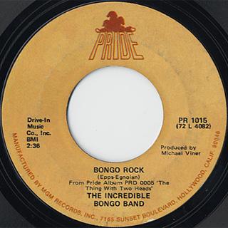 Incredible Bongo Band / Bongolia c/w Bongo Rock back