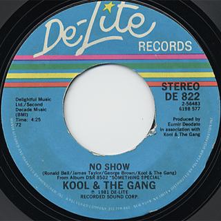 Kool & The Gang / Big Fun c/w No Show back