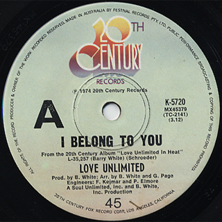 Love Unlimited / I Belong To You c/w And Only You