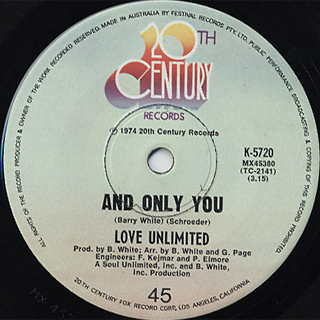 Love Unlimited / I Belong To You c/w And Only You back
