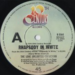 Love Unlimited Orchestra / Rhapsody In White c/w Barry's Theme