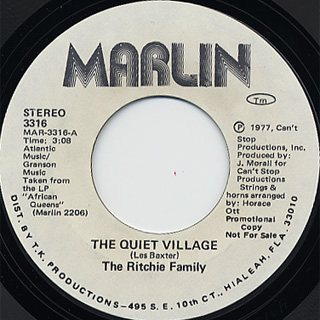 Ritchie Family / The Quiet Village back