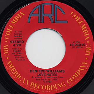 Deniece Williams / Waiting By The Hotline c/w Love Notes back