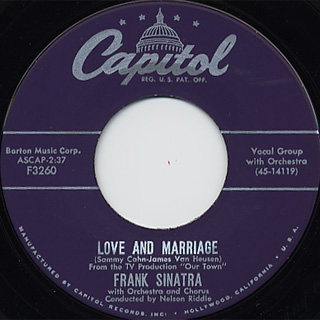 Frank Sinatra / The Impatient c/w Love and Marriage front