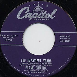 Frank Sinatra / The Impatient c/w Love and Marriage back