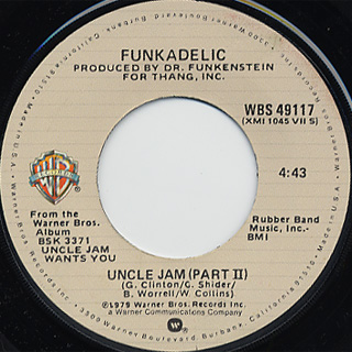 Funkadelic / Uncle Jam c/w (Part 2) back