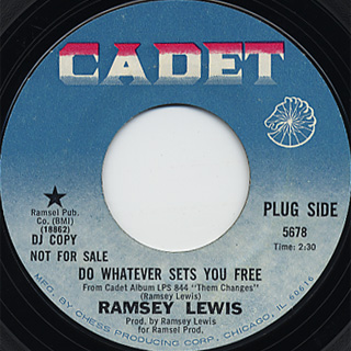 Ramsey Lewis / Do Whatever Sets You Free c/w Close Your Eyes And front
