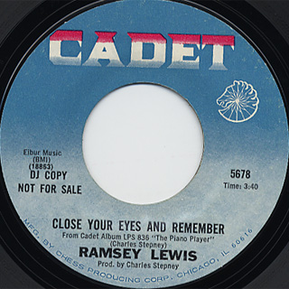 Ramsey Lewis / Do Whatever Sets You Free c/w Close Your Eyes And back