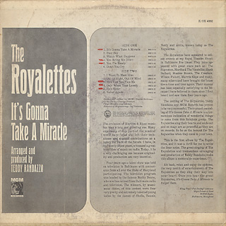 Royalettes / It's Gonna Take A Miracle back