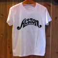 Alston Logo T-Shirts White x Black S-1