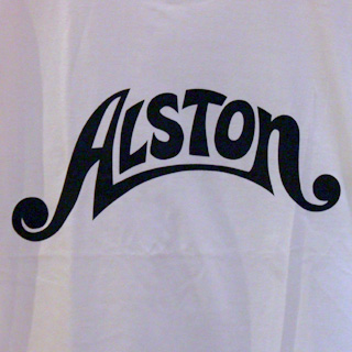 Alston Logo T-Shirts White x Black S back