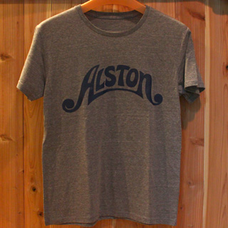 Alston Logo T-Shirts Gray x Navy S