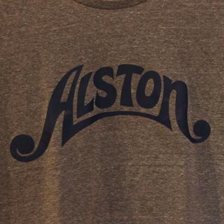 Alston Logo T-Shirts Gray x Navy S back
