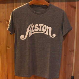 Alston Logo T-Shirts Gray x White M
