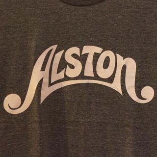 Alston Logo T-Shirts Gray x White M back
