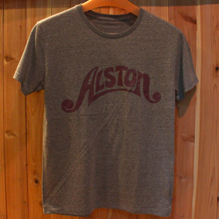 Alston Logo T-Shirts Gray x Wine S