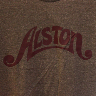 Alston Logo T-Shirts Gray x Wine S back