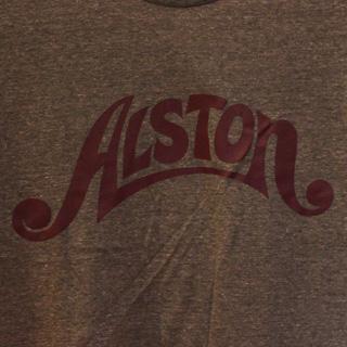 Alston Logo T-Shirts Gray x Wine M back