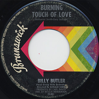 Billy Butler / Thank You Baby c/w Burning Touch Of Love back