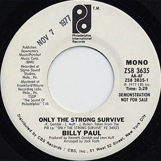 Billy Paul / Only The Strong Survive c/w (Mono) back