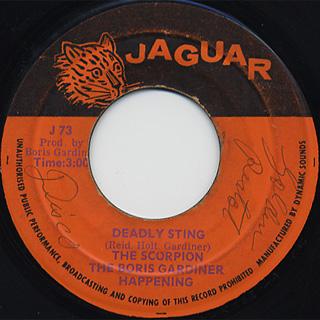 Boris Gardiner / Deadly Sting c/w Boing Boing