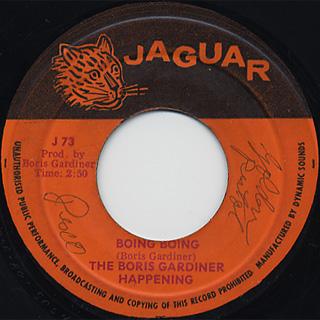 Boris Gardiner / Deadly Sting c/w Boing Boing back