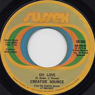 Creative Source / You're Too Good To Be True c/w Oh Love back