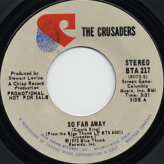 Crusaders / So Far Away (Stereo)c/w (Mono) front