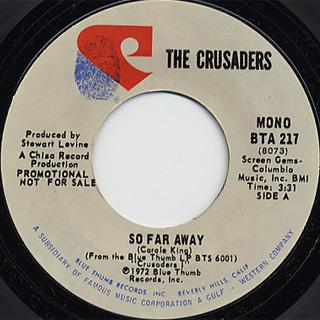 Crusaders / So Far Away (Stereo)c/w (Mono) back