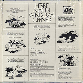 Herbie Mann / Windows Opened back