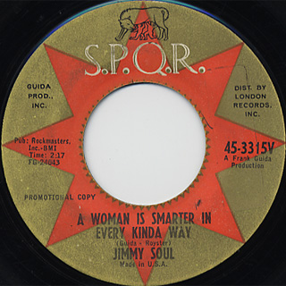 Jimmy Soul / My Girl She Sure Can Cook c/w A Woman Is Smarter In Every〜