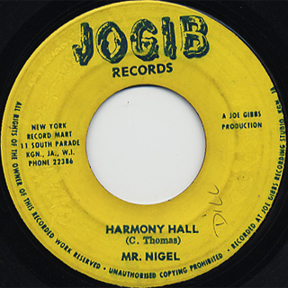Lizzy / Wear You From The Ball c/w Mr. Nigel / Harmony Hall back