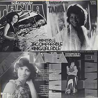Tania / Inimitable Incomparable Inigualable back