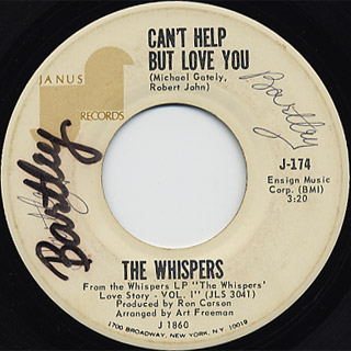 Whispers / Can't Help But Love You c/w A Hopeless Situation