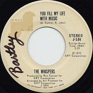 Whispers / You Fill My Life With Music c/w I Only Meant To Wet My Feet