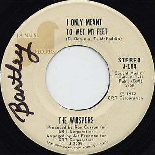 Whispers / You Fill My Life With Music c/w I Only Meant To Wet My Feet back