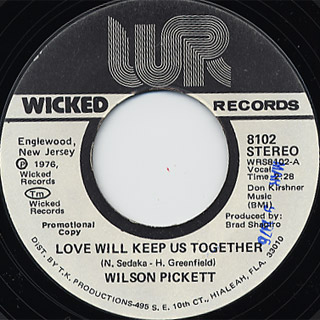 Wilson Pickett / Love Will Keep Us Together back
