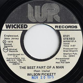 Wilson Pickett / The Best Part Of A Man back