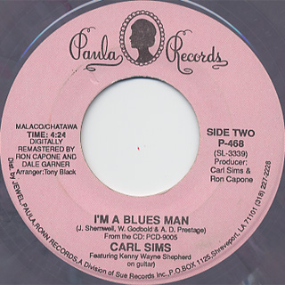 Carl Sims / Shot To The Curb c/w I'm A Blues Man back