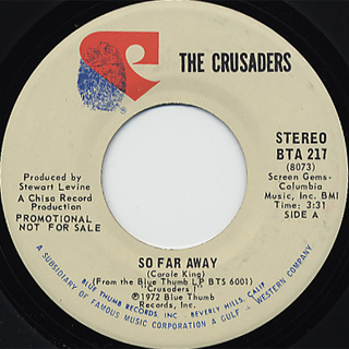 Crusaders / So Far Away(Stereo) c/w (Mono)