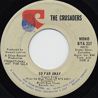 Crusaders / So Far Away(Stereo) c/w (Mono) back