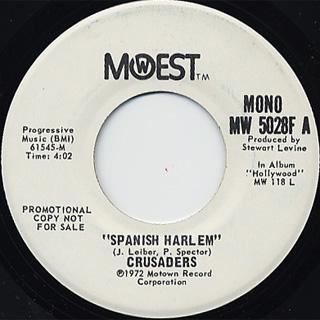 Crusaders / Spanish Harlem(Stereo) c/w (Mono) back