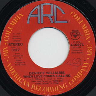 Deniece Williams / I've Got The Next Dance c/w When Love Comes Calling