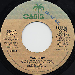 Donna Summer / Try Me, I Know We Can Make It c/w Wasted back
