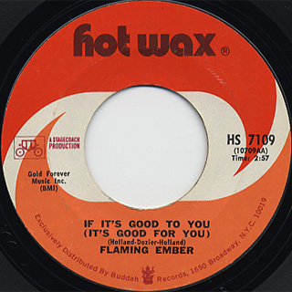 Flaming Ember / If It's Good To For c/w (Inst)