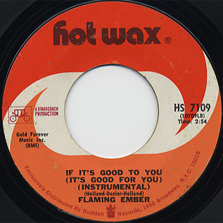 Flaming Ember / If It's Good To For c/w (Inst) back