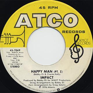 Impact / Happy Man(Part I) c/w (Part II) back