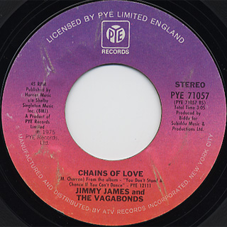 Jimmy James and The Vagabonds / I Am Somebody c/w Chains Of Love back