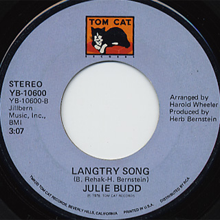 Julie Budd / Music To My Heart c/w Langtry Song back