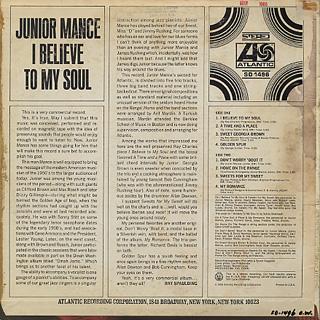 Junior Mance / I Believe To My Soul back